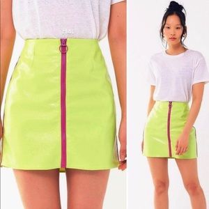 Urban Outfitters Neon Pleather mini skirt